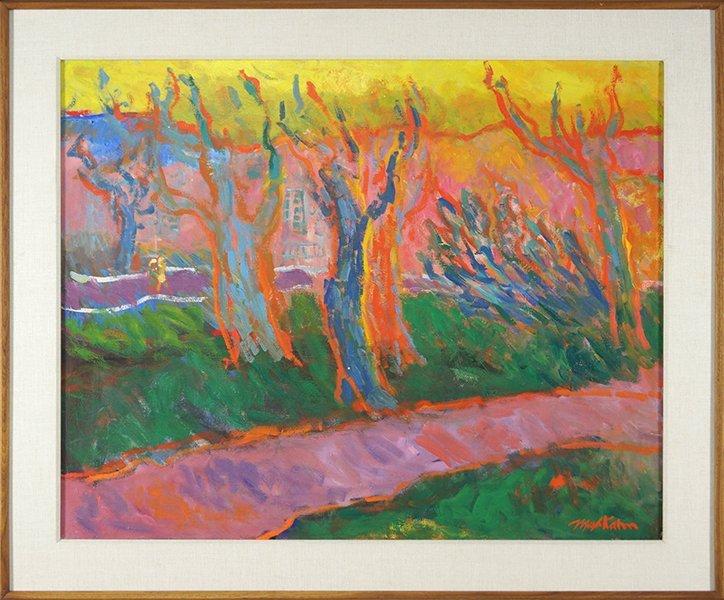 Max Kahn (American, 1903-2005) Landscape. - 2