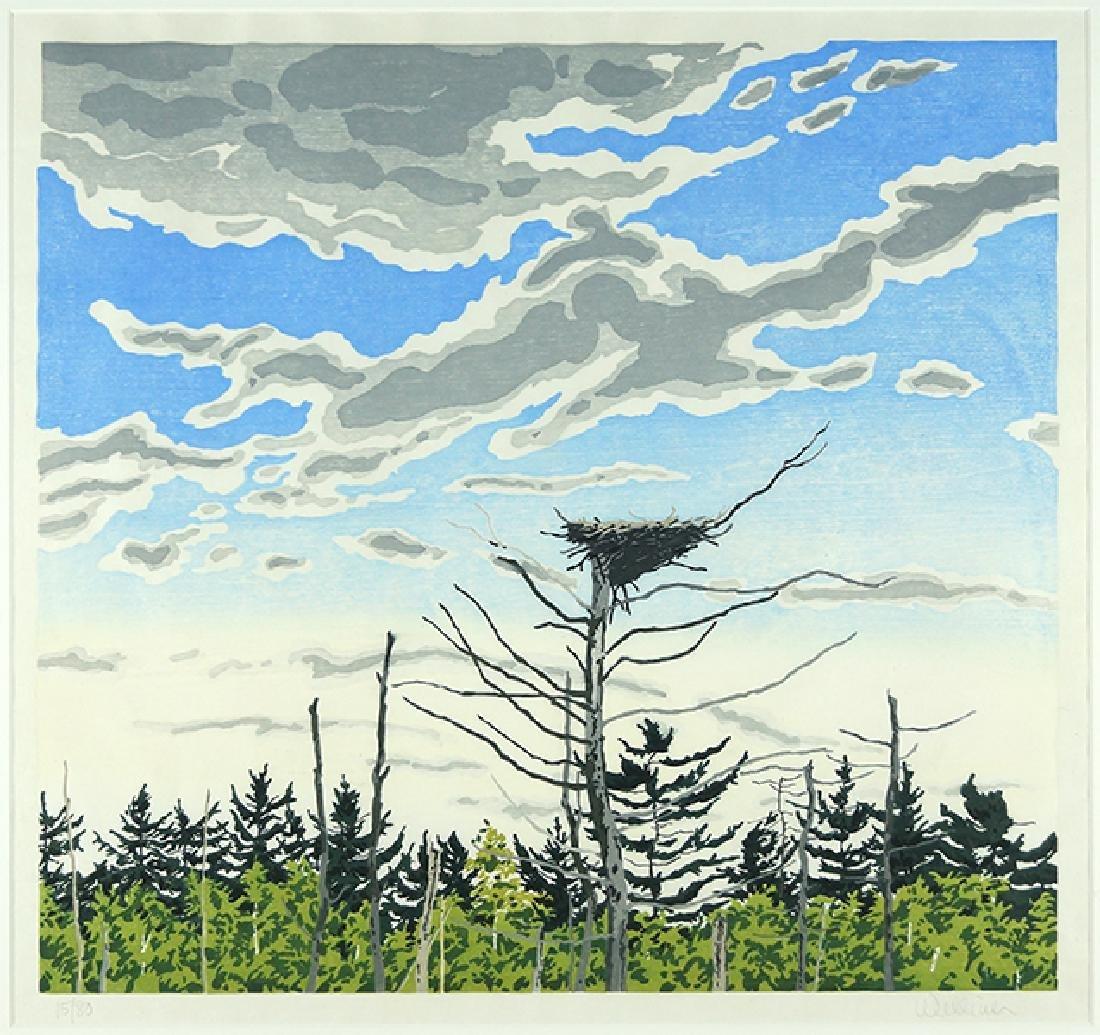 Neil Welliver (American, 1929-2005) Osprey's Nest.