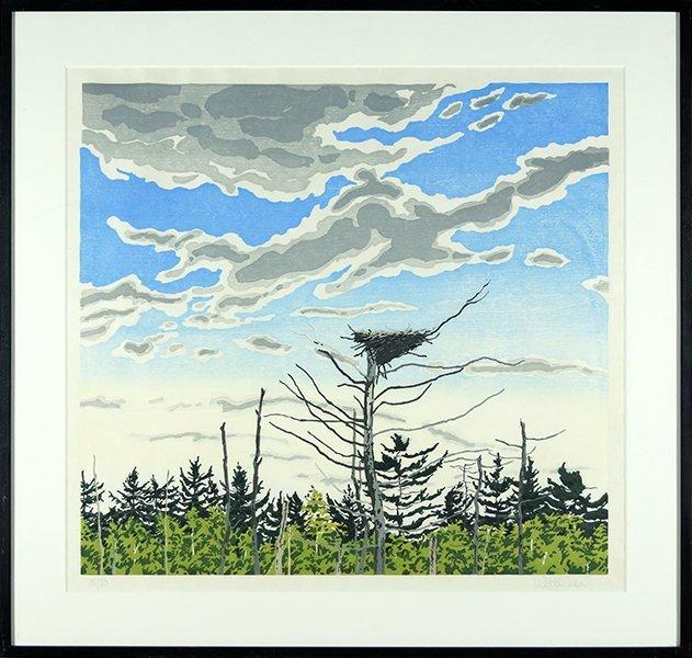 Neil Welliver (American, 1929-2005) Osprey's Nest. - 2