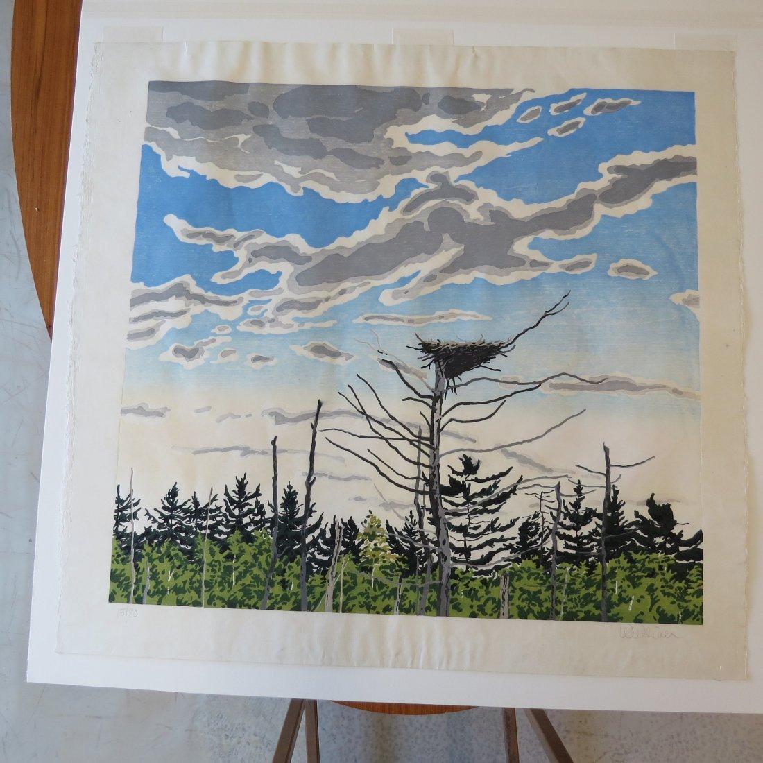Neil Welliver (American, 1929-2005) Osprey's Nest. - 3