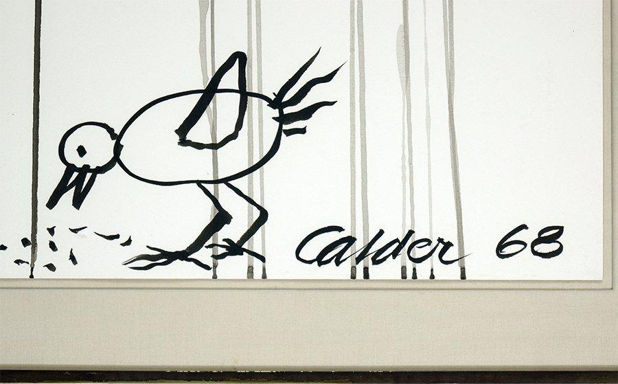Alexander Calder (1898-1976) Endangered Bird. - 2
