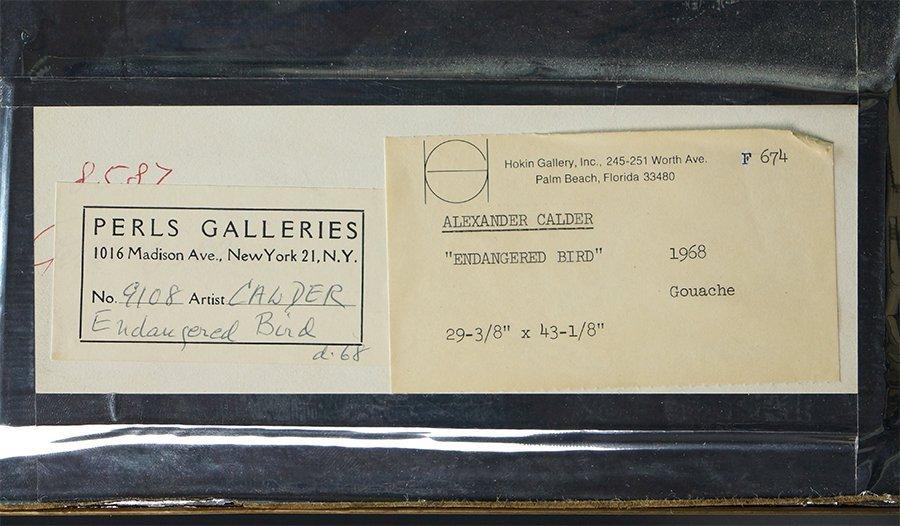 Alexander Calder (1898-1976) Endangered Bird. - 3