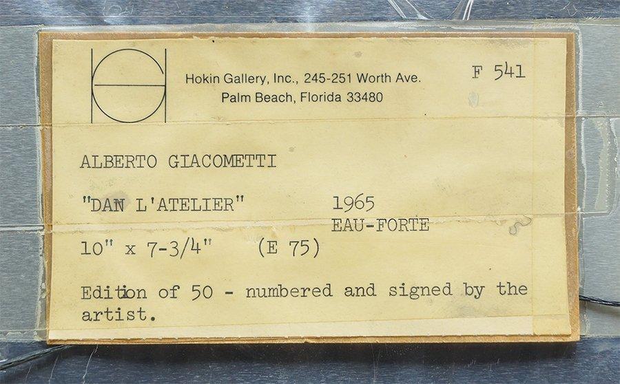 Alberto Giacometti (Swiss, 1901-1966) Dans l'Atelier. - 4