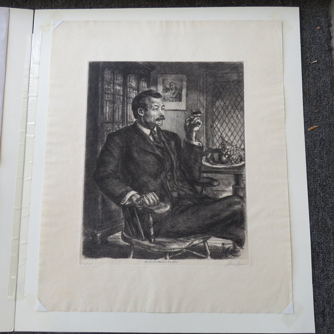 John Sloan (American, 1871-1951) Robert Henri, Painter. - 3