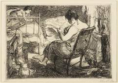 John Sloan American 18711951 The Womans Page