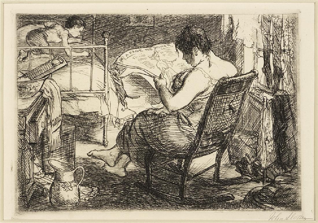 John Sloan (American, 1871-1951) The Woman's Page.