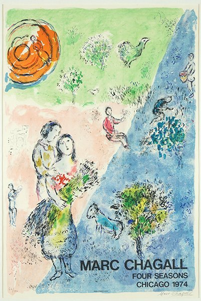 Marc Chagall (Russian-French, 1887-1985) Four Seasons. - 3
