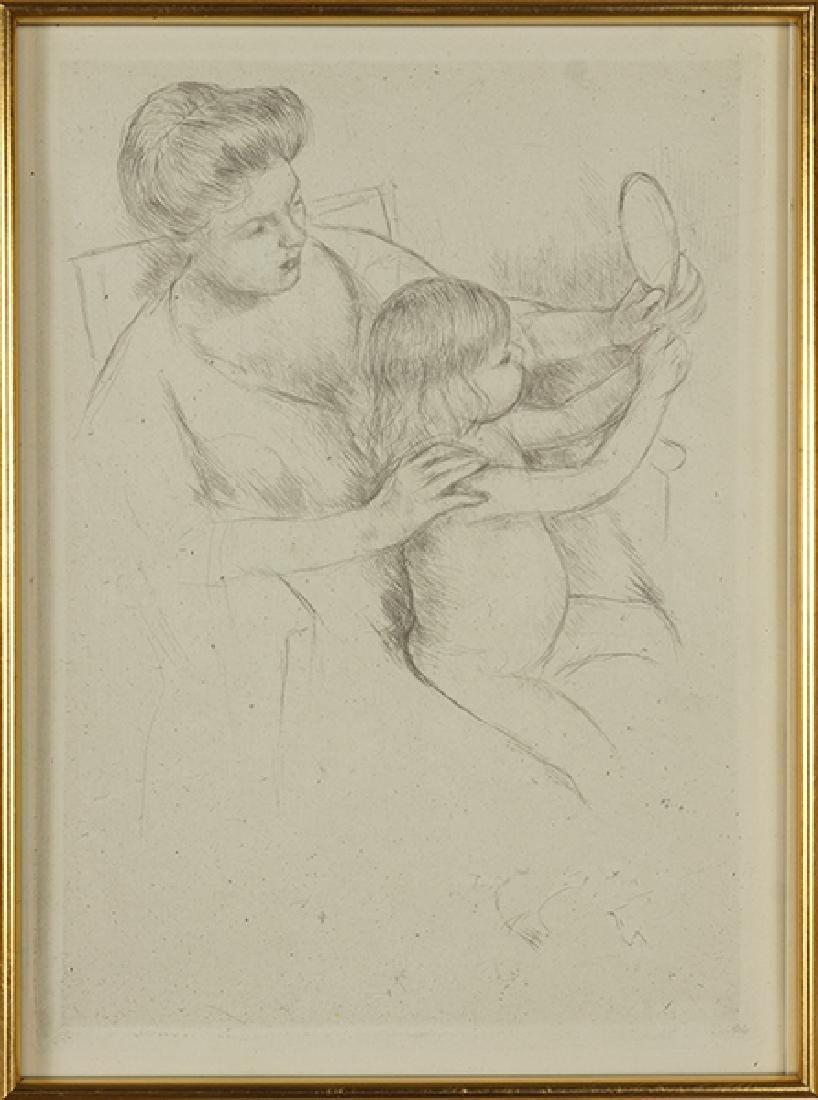 Mary Cassatt (American, 1844-1926) Looking into the