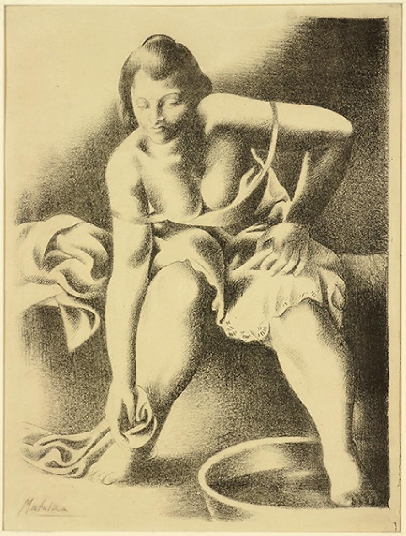 Jan Matulka (Czech-American, 1890-1972) Toilette.