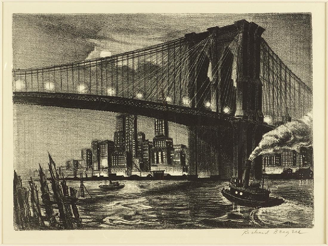 Richard Bergere (American, B. 1912-) Twilight on the