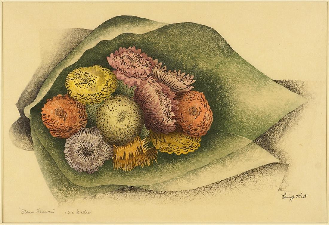Luigi Rist (American, 1888-1959) Straw Flowers.