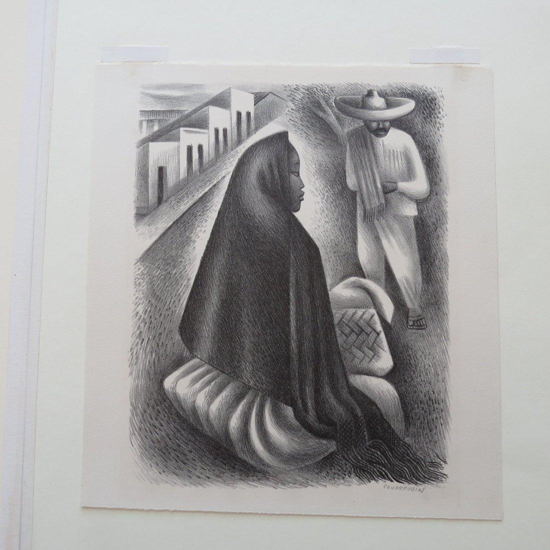 Miguel Covarrubias (Mexican, 1904-1957) Hombre y Mujer. - 2