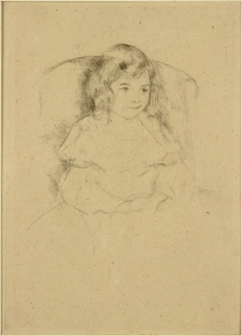 Mary Cassatt (American, 1844-1926) Sara Smiling.
