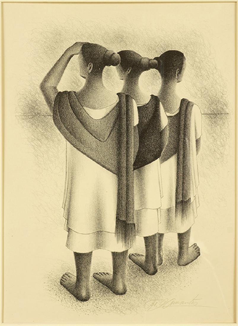 Francisco Dosamantes (Mexican, 1911-1986) Mayan Trio.