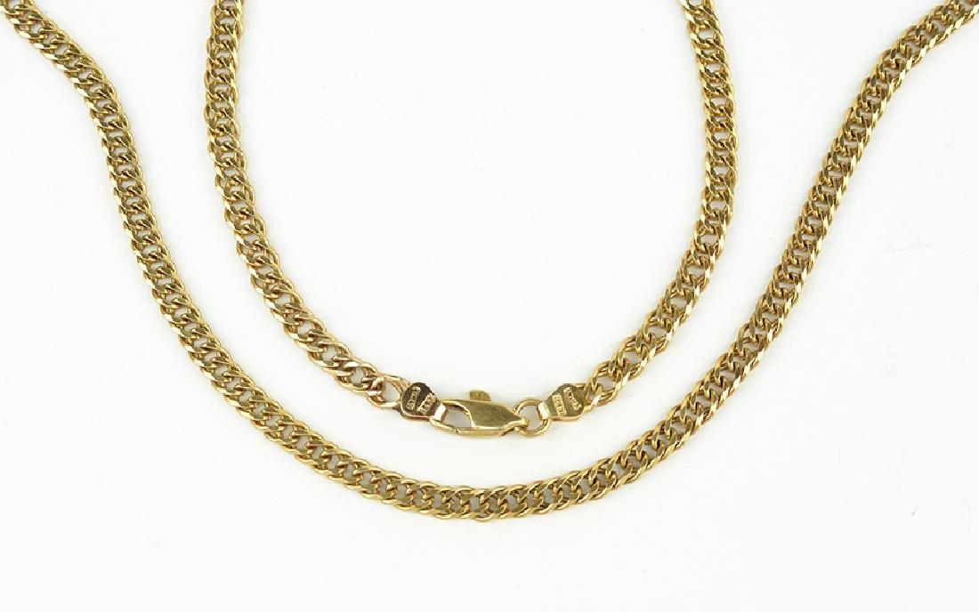 An Italian 14 Karat Yellow Gold Necklace.