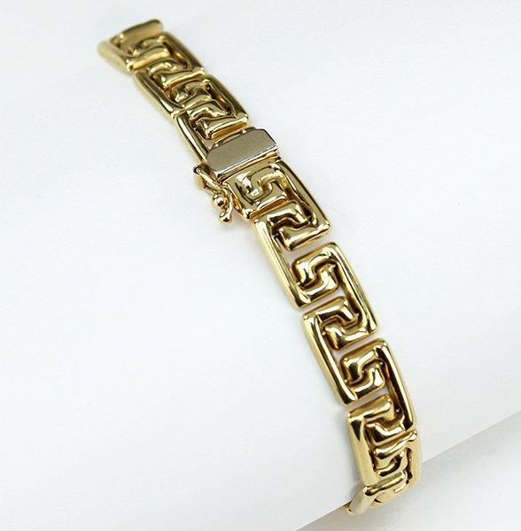 A 14 Karat Yellow Gold Bracelet. - 2