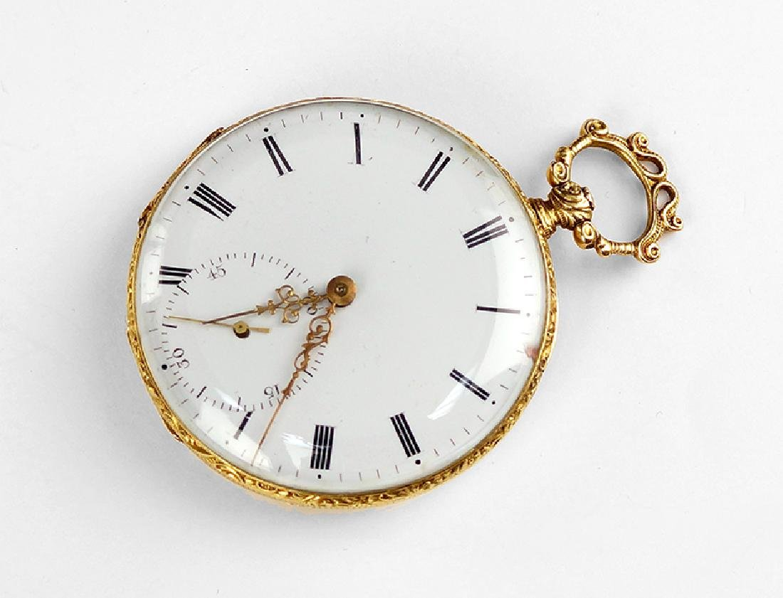 An 18 Karat Yellow Gold Pocket Watch.