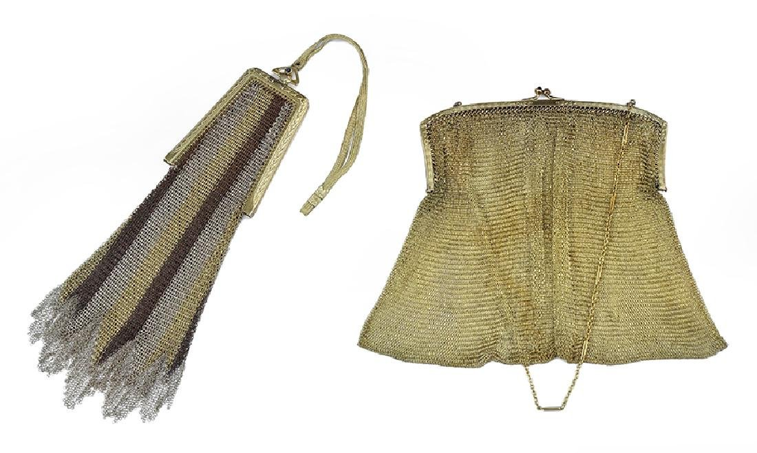 Two Lady's Mesh Evening Bags.