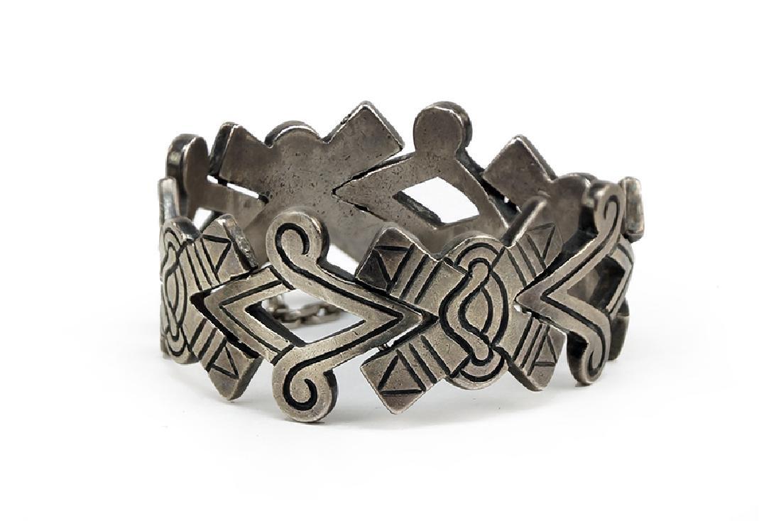 A Mexican Los Ballesteros Sterling Silver Bracelet.