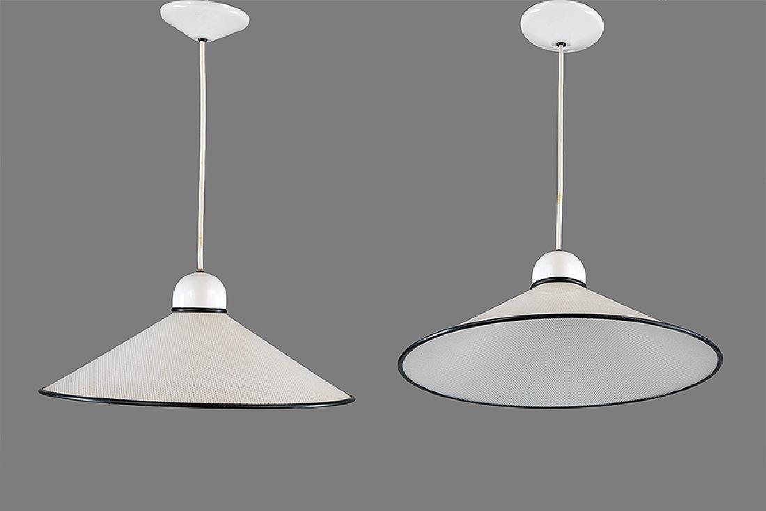 A Pair of Ron Rezek Pendant Lights.