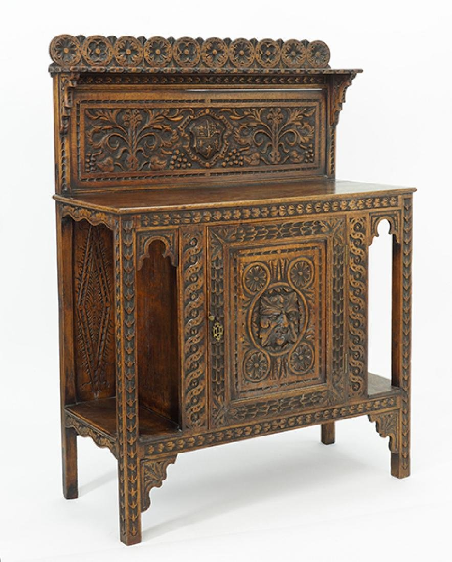 A 19th Century English Oak Buffet.