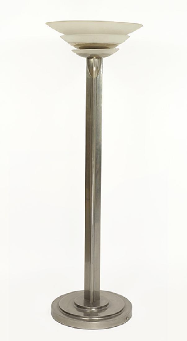 A Jean Perzel (French, 1892-1986) Art Deco Nickeled