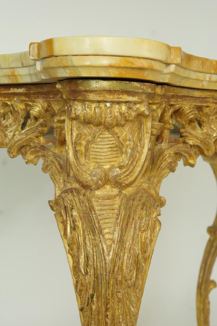 A George III Rococo Giltwood Console Table. - 3