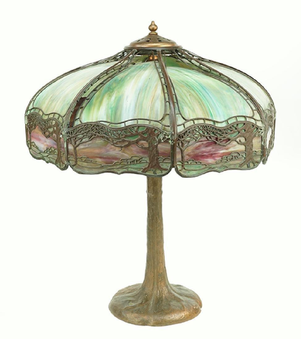 A Handel Table Lamp.