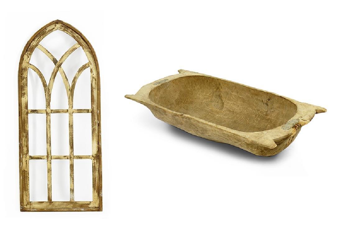 A Primitive Style Dough Bowl.