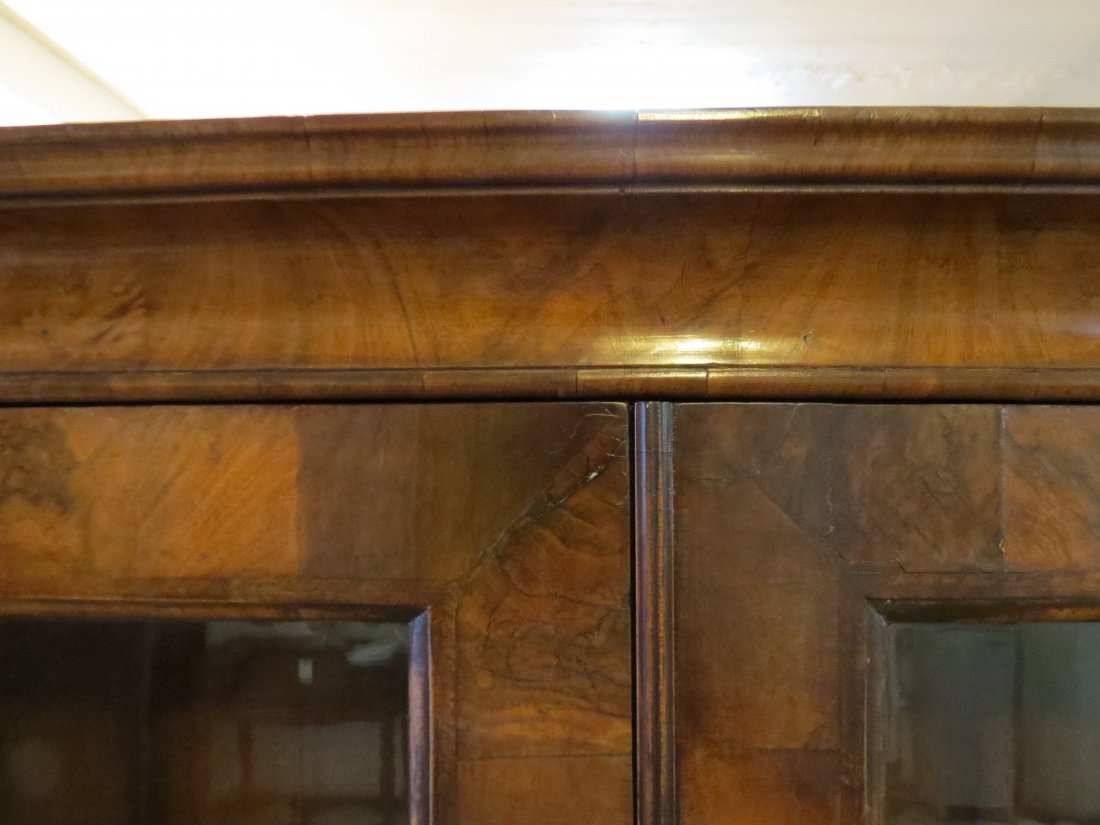 A George I Walnut Veneered Bookcase Cabinet. - 10