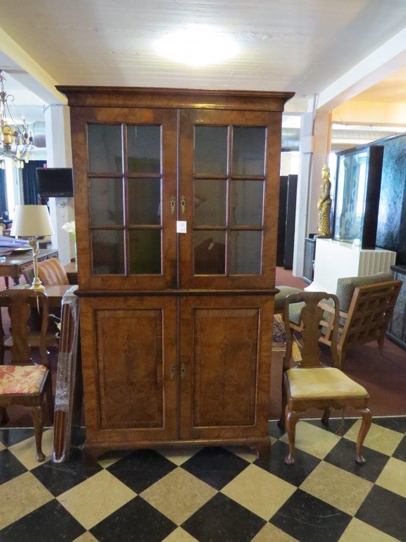 A George I Walnut Veneered Bookcase Cabinet. - 2
