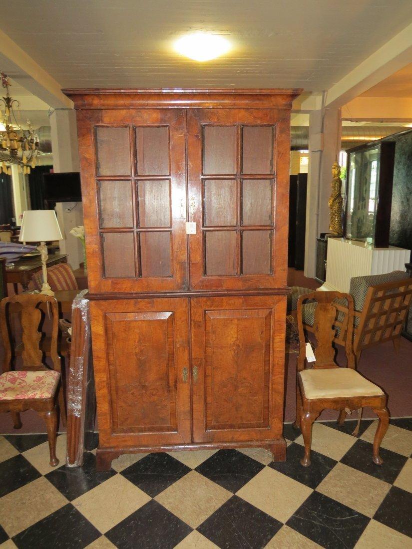 A George I Walnut Veneered Bookcase Cabinet. - 3