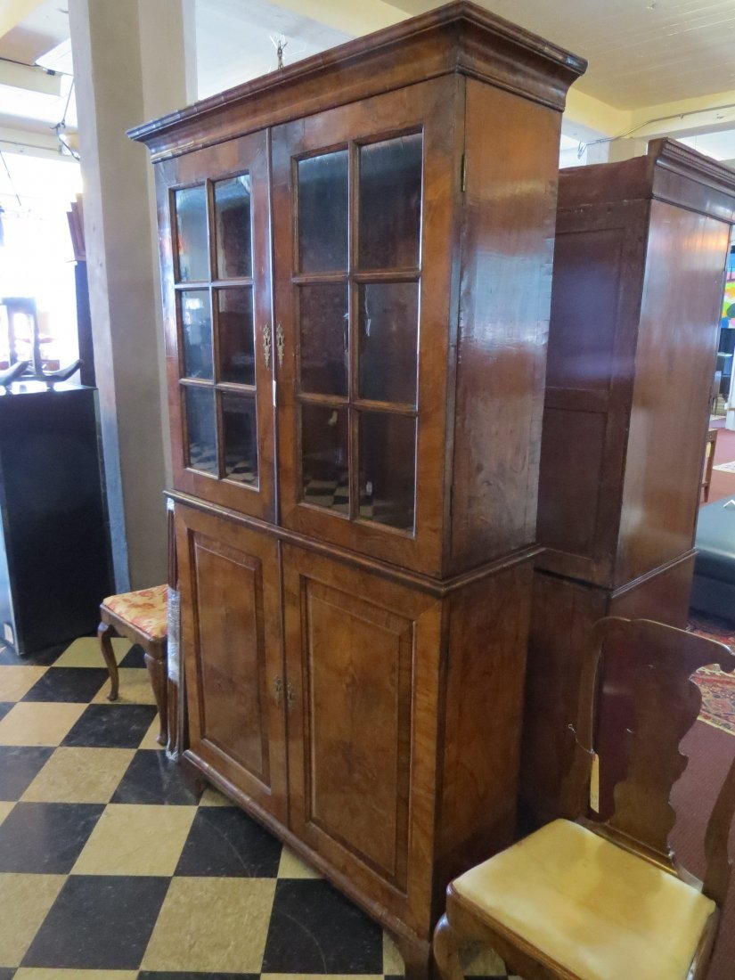 A George I Walnut Veneered Bookcase Cabinet. - 4