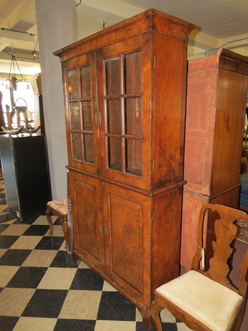 A George I Walnut Veneered Bookcase Cabinet. - 5