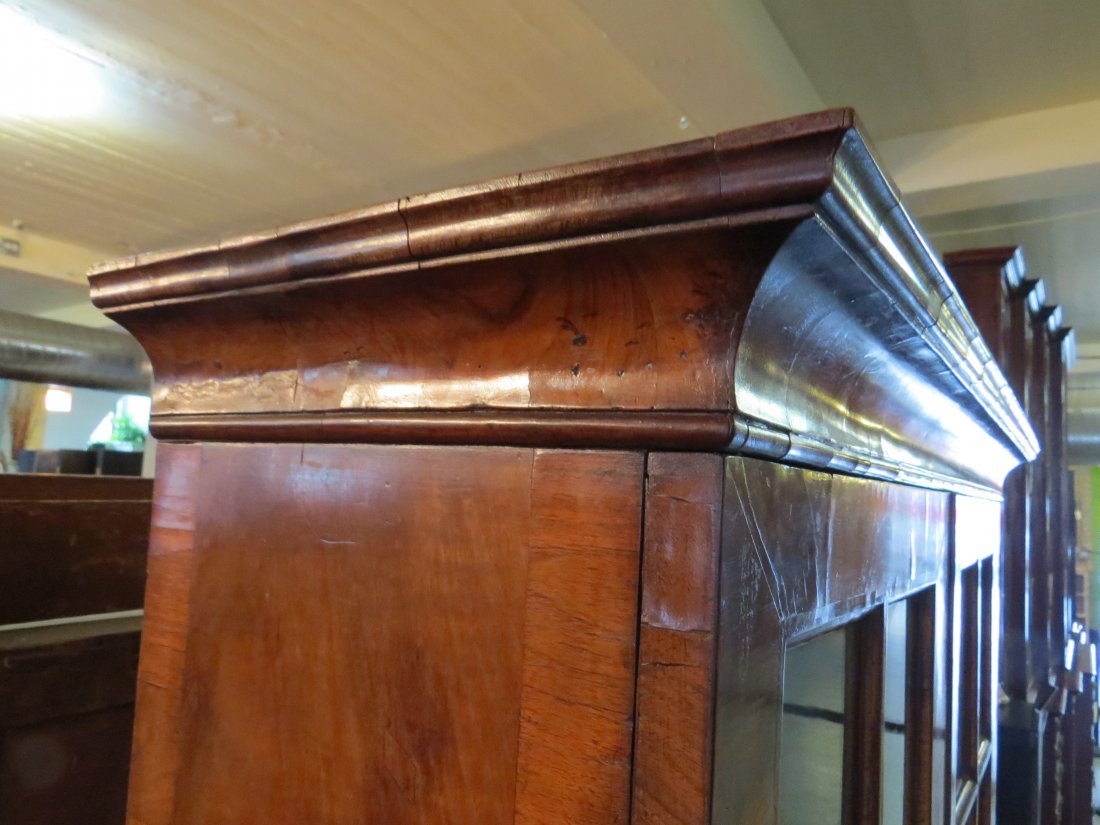 A George I Walnut Veneered Bookcase Cabinet. - 6