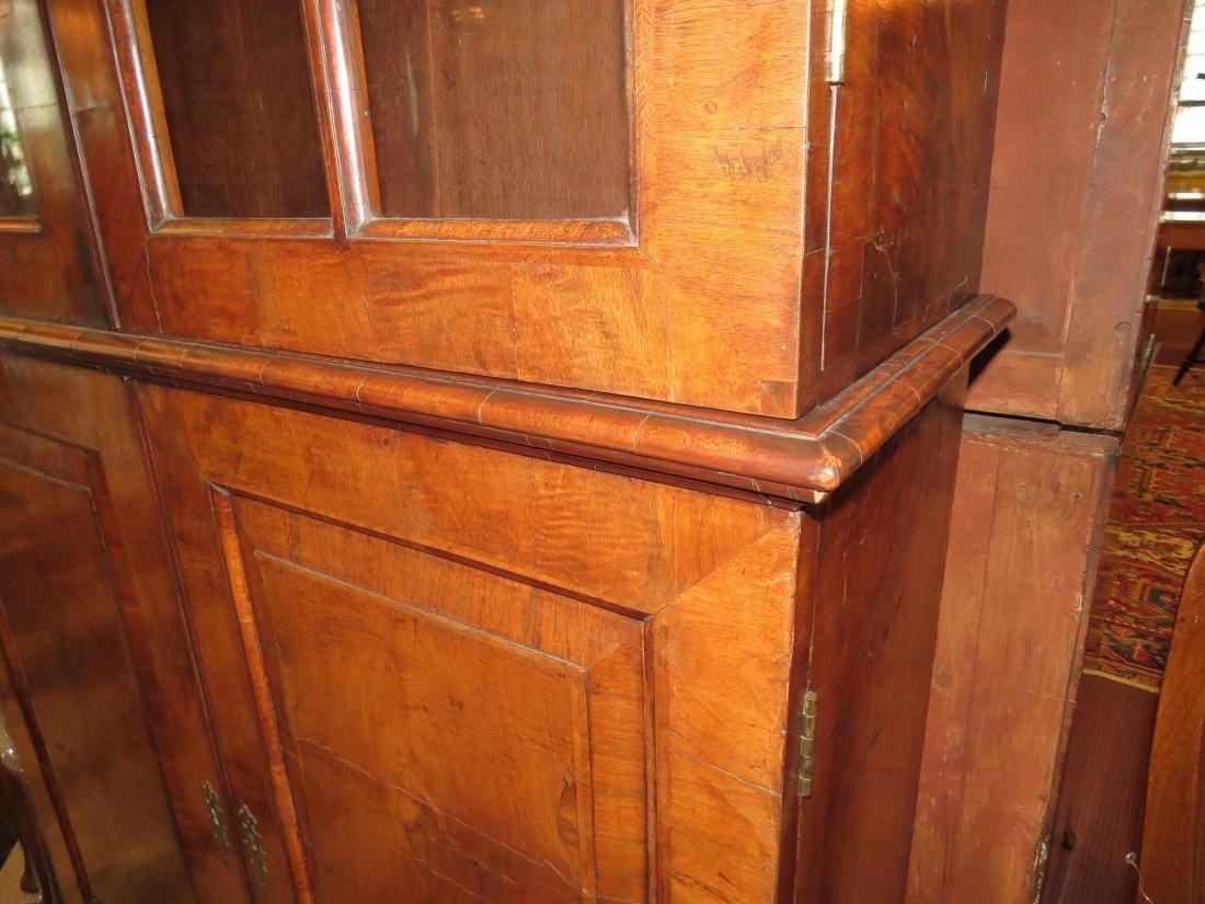 A George I Walnut Veneered Bookcase Cabinet. - 7