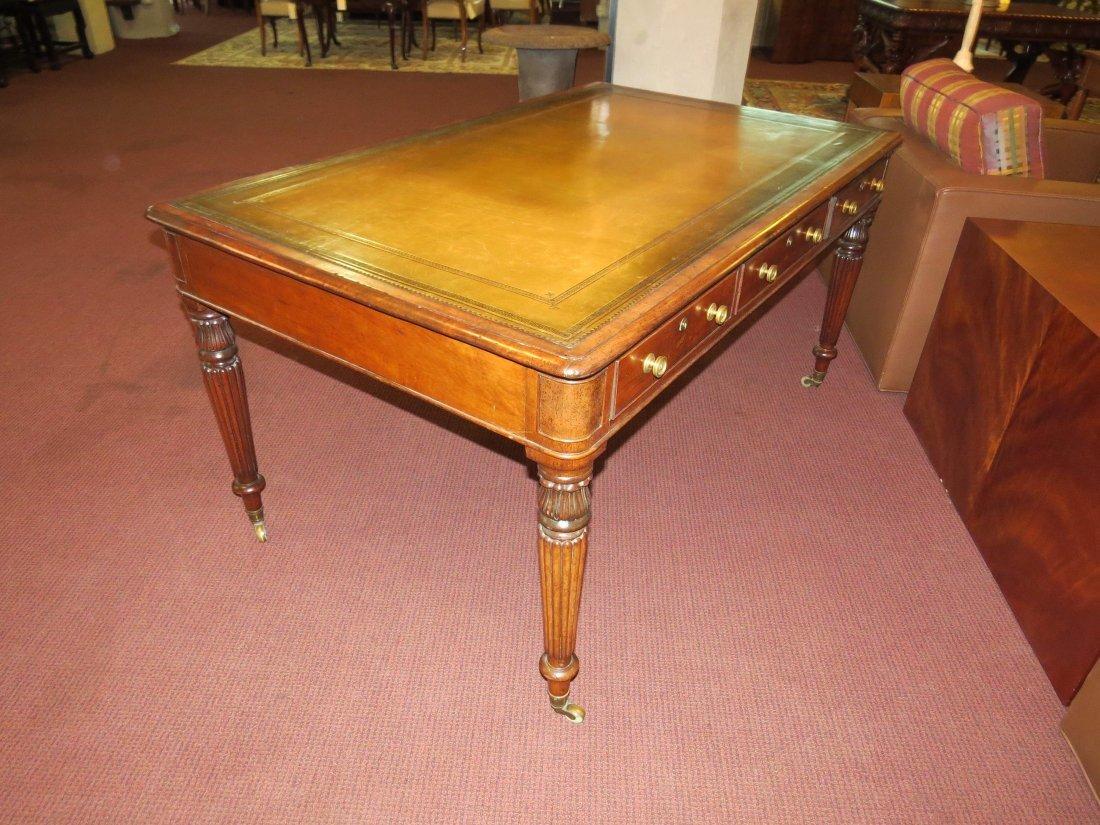 A William IV Mahogany Partner's Desk. - 7