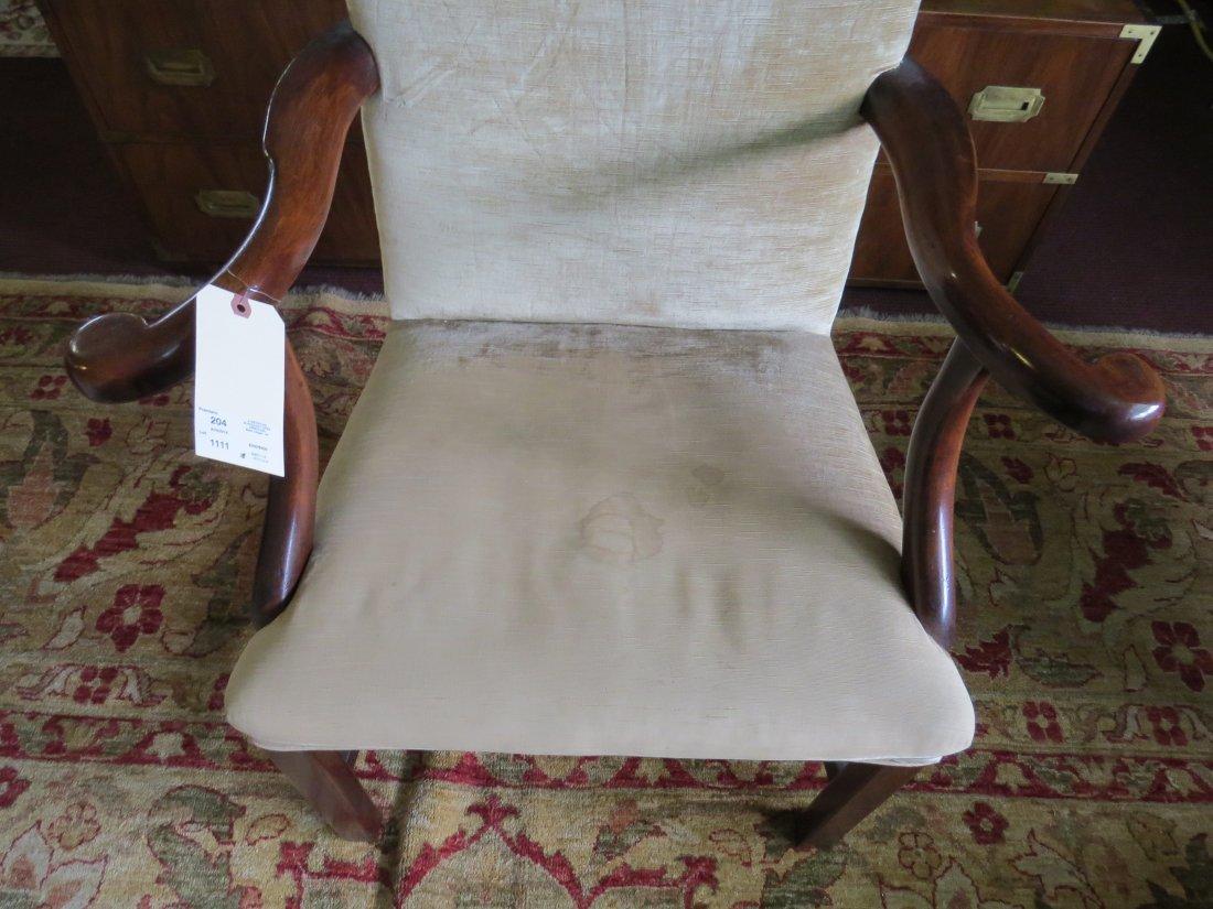 A Georgian Mahogany Open Armchair. - 2