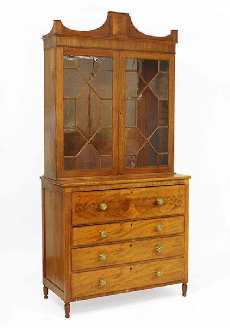 A Georgian Style Secretary Bookcase.