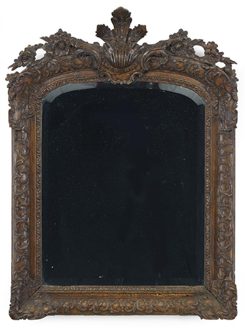 A 19th Century Carved Wood Mirror.