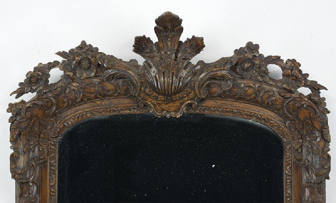 A 19th Century Carved Wood Mirror. - 2