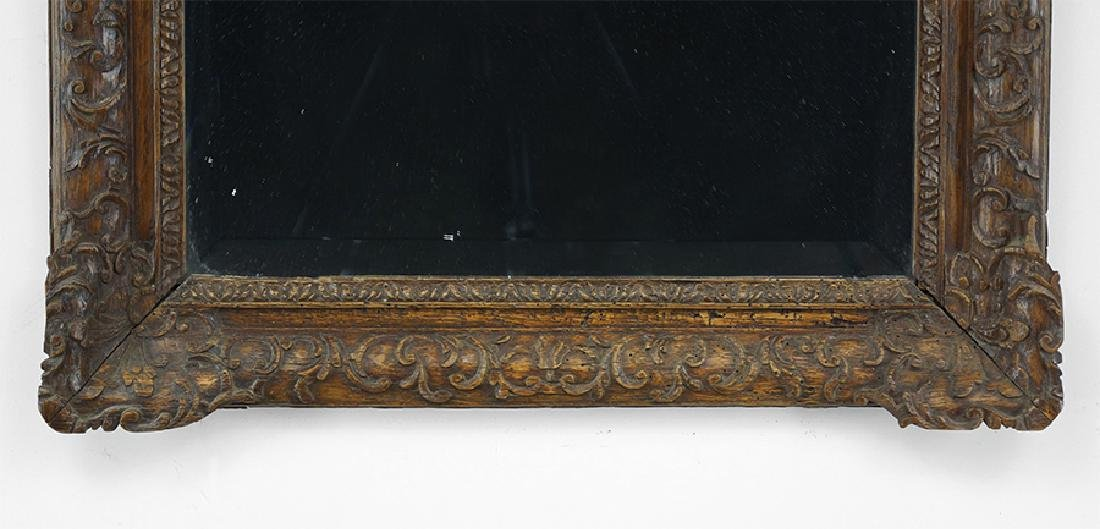 A 19th Century Carved Wood Mirror. - 3