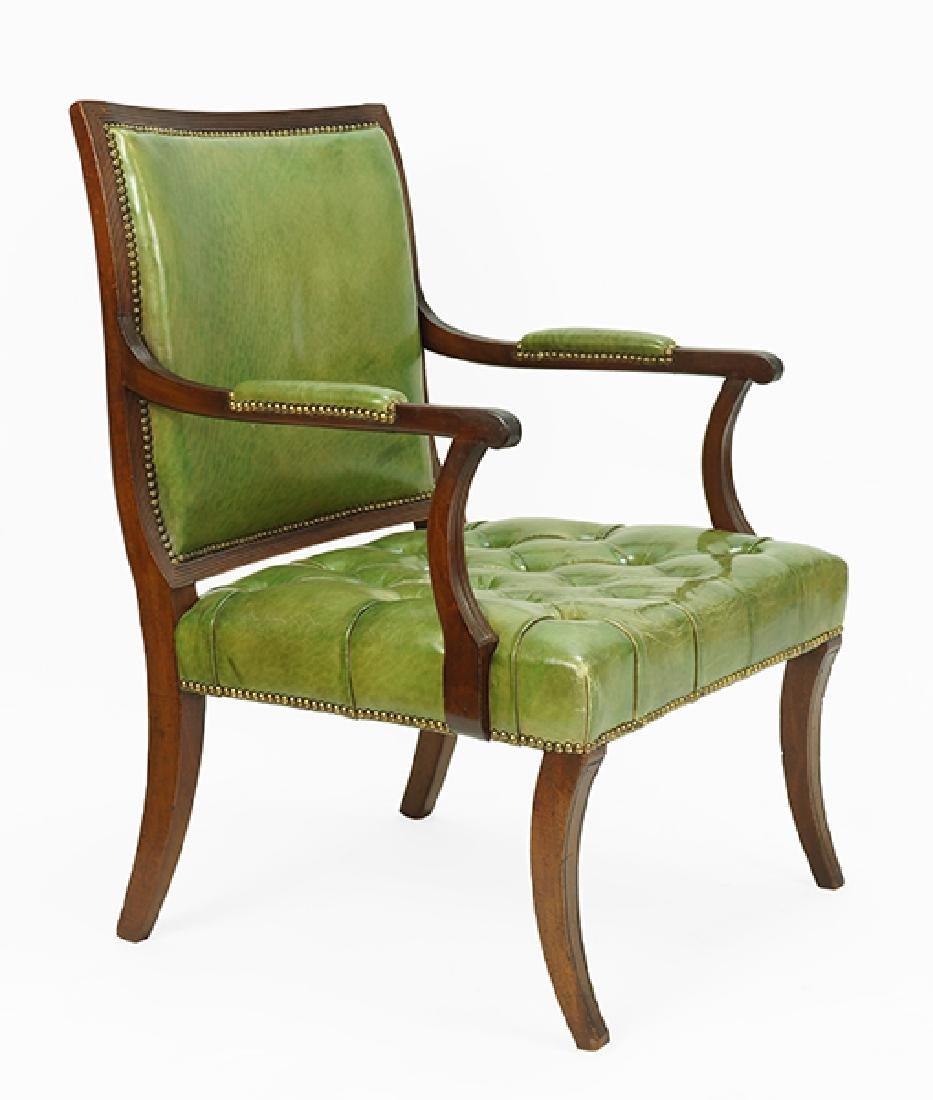 A Regency Mahogany Open Armchair.
