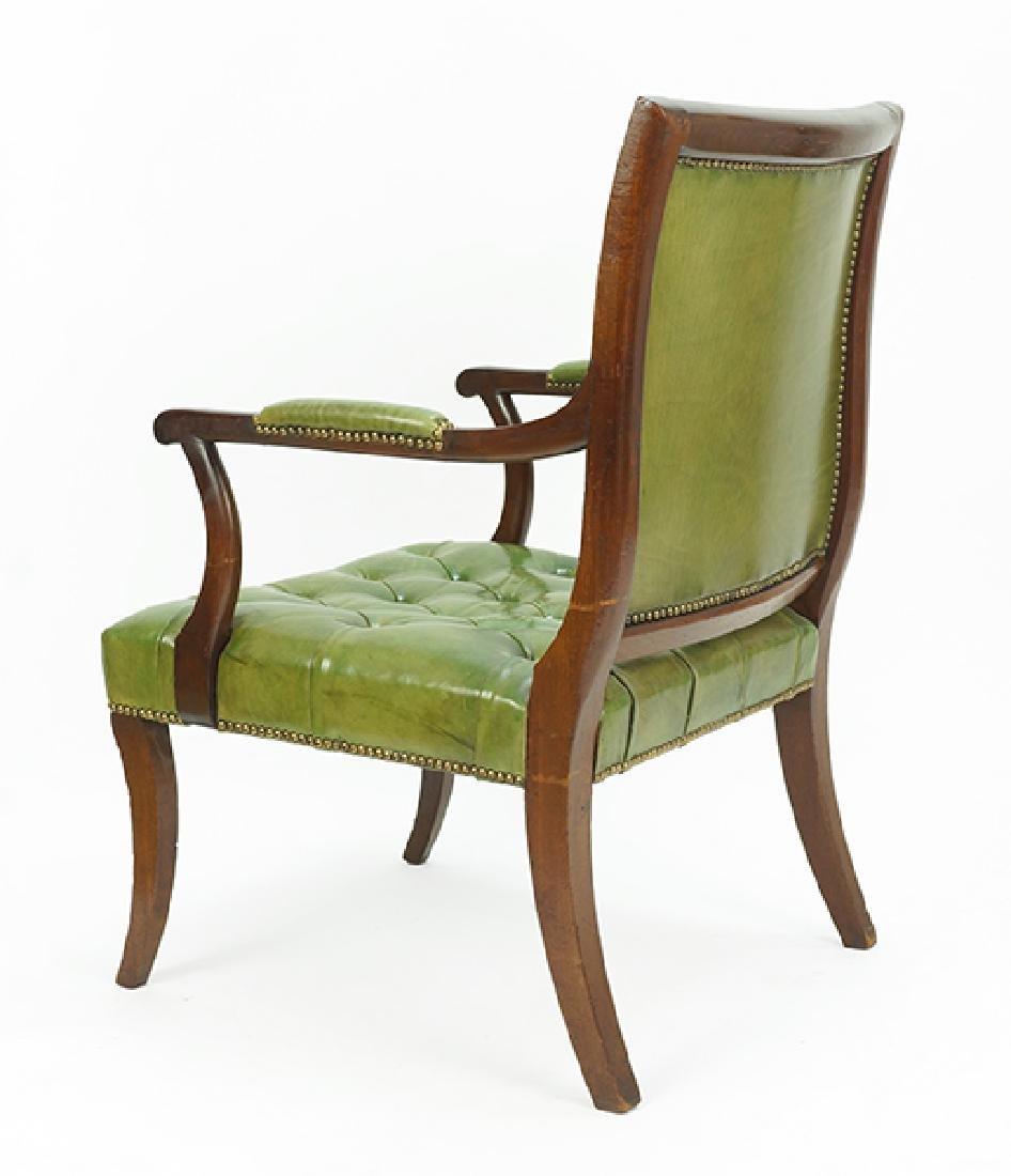A Regency Mahogany Open Armchair. - 2