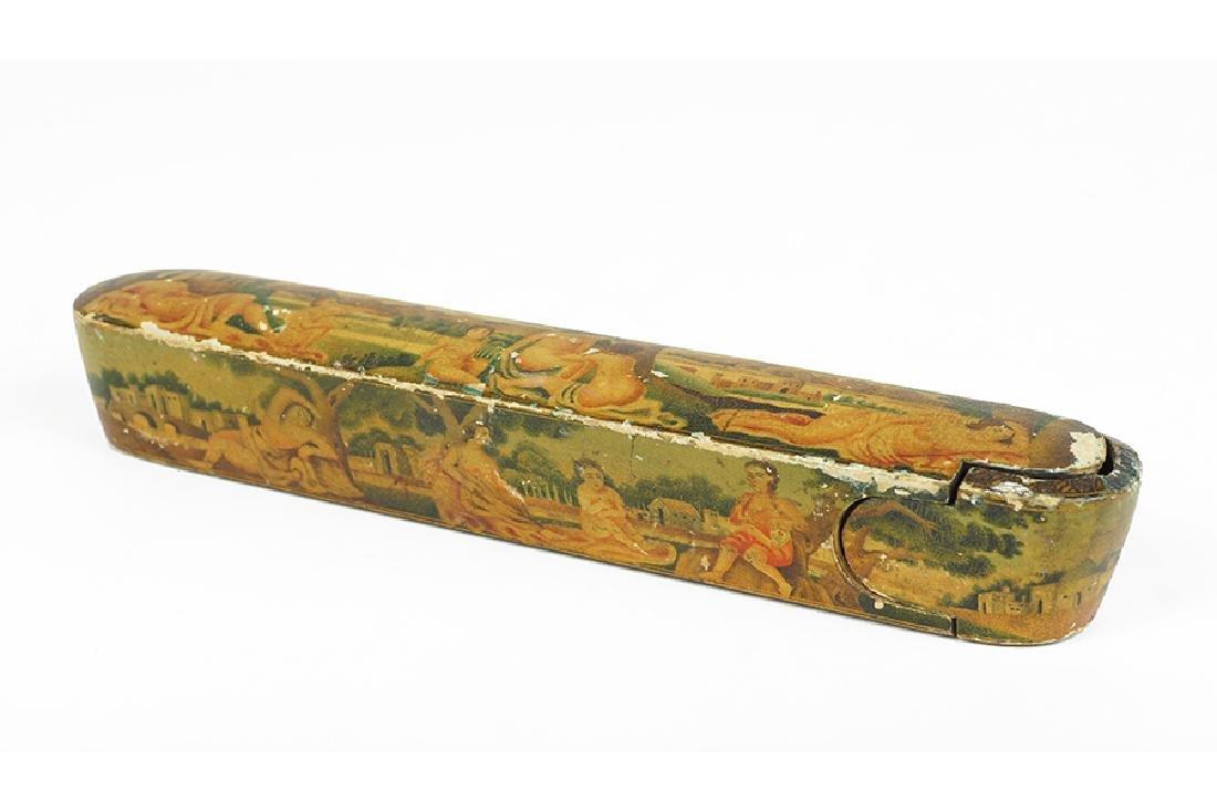 A Qajar Style Pen Case.