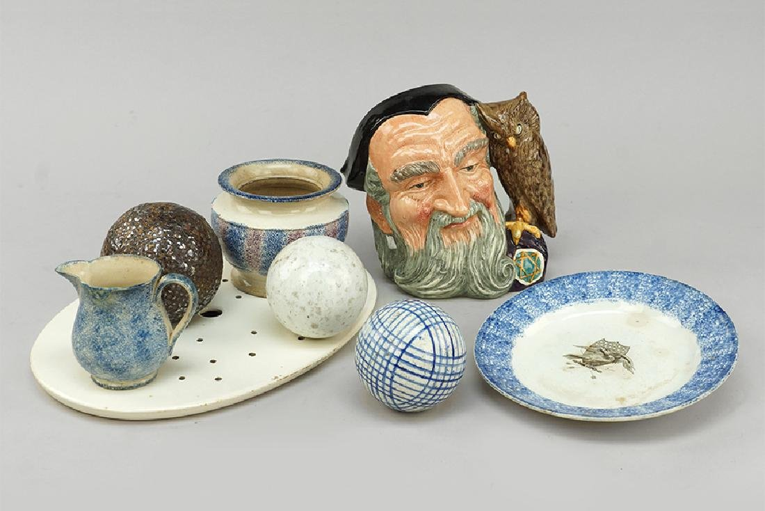 A Collection Of Spatterware.