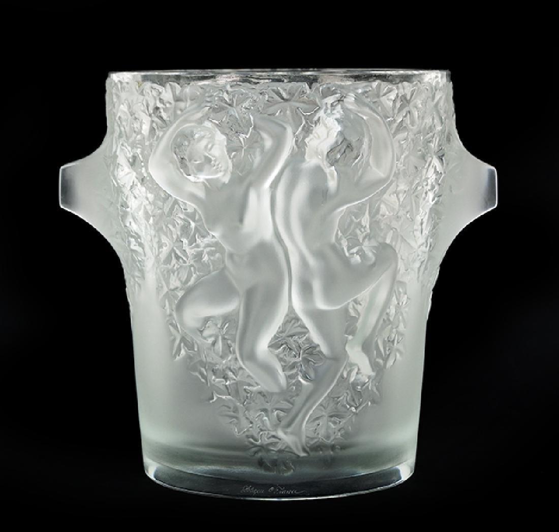 A Lalique Ice Bucket.
