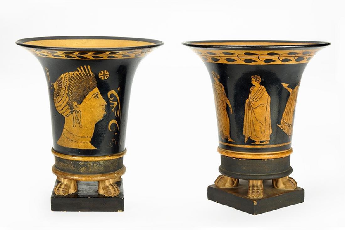 A Pair of 19th Century Wedgwood Terra Cotta Vases.