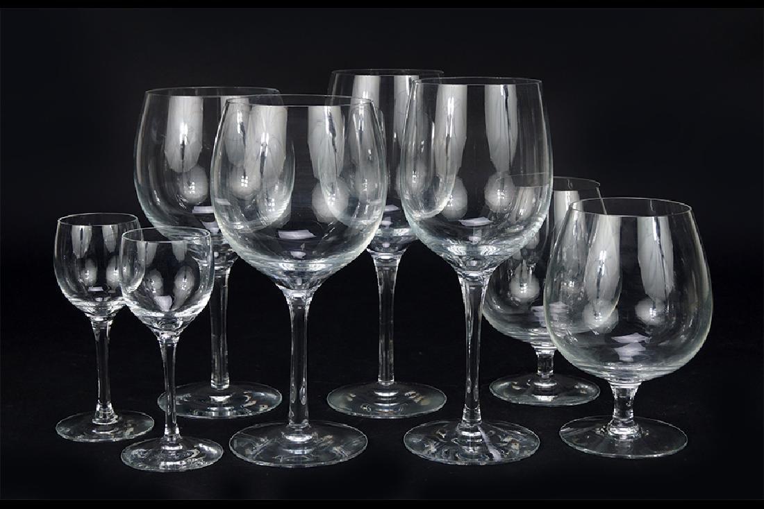 A Set of Tiffany & Co. Crystal Stemware.
