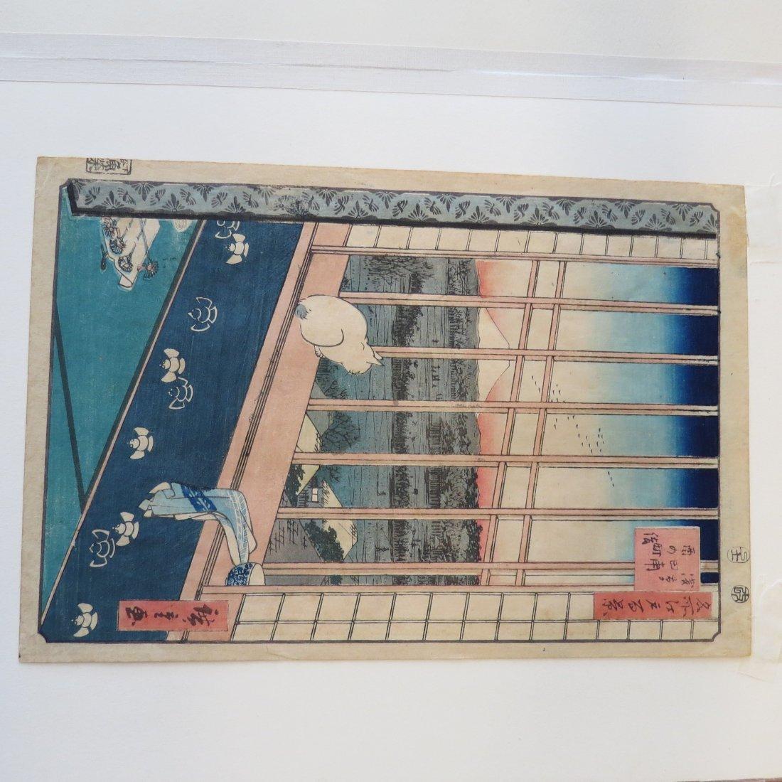 Hiroshige (Japanese, 1797-1858) Five Color Woodcuts. - 2